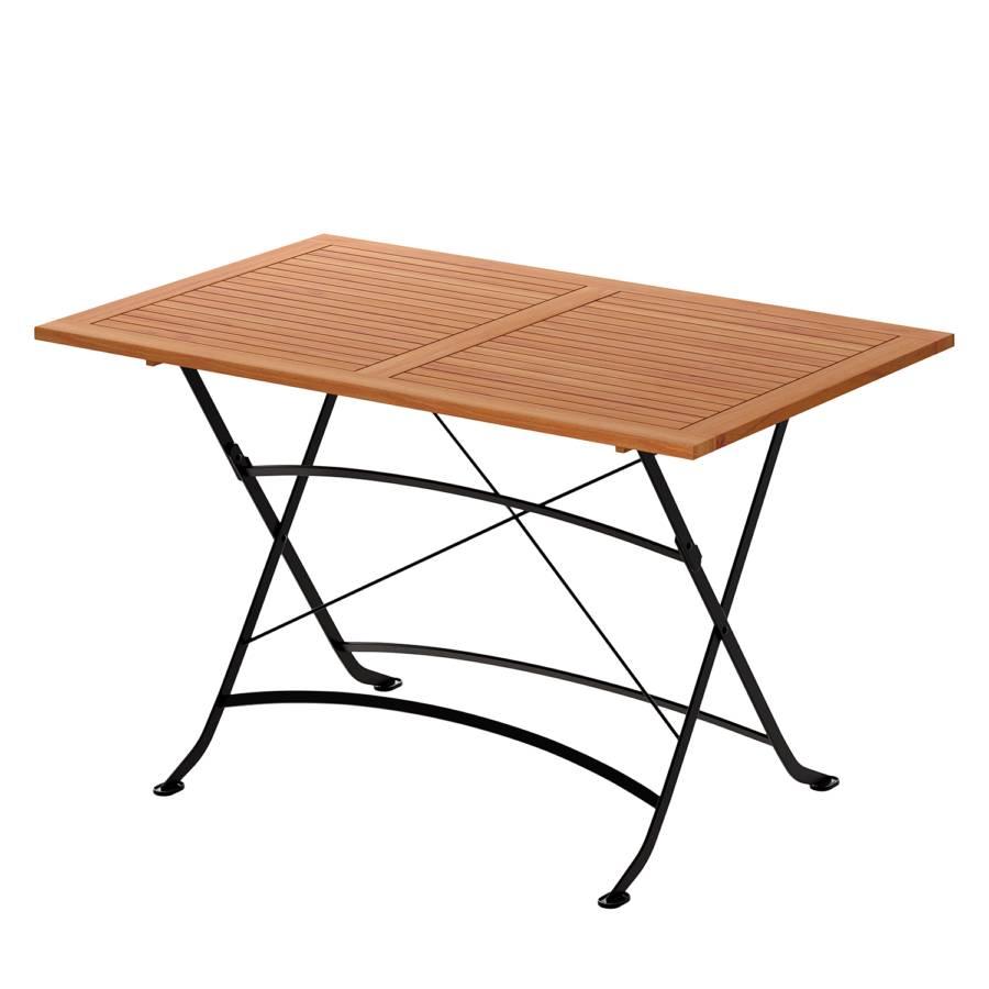 Table de jardin pliante Tuscany - Acacia massif / Acier | home24.ch