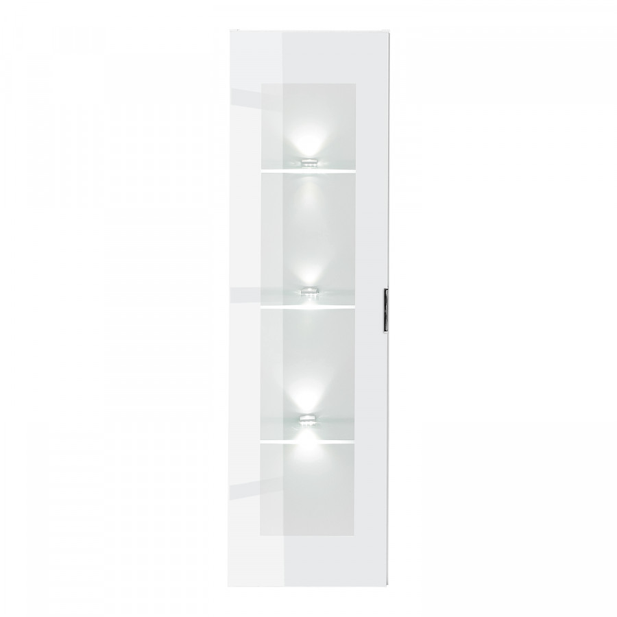 I Hängevitrine BeleuchtungWeißglasWeiß Gila Inklusive JFKclT1