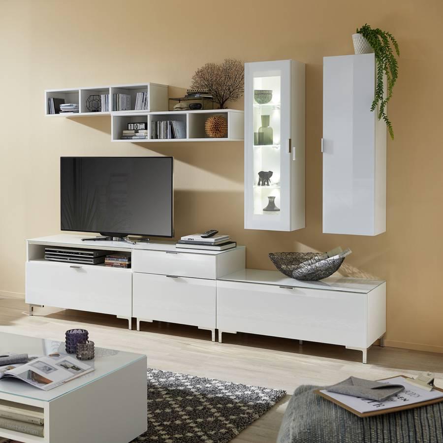 Verre Gila Meuble Tv Iii Blanc PkOXNnw80