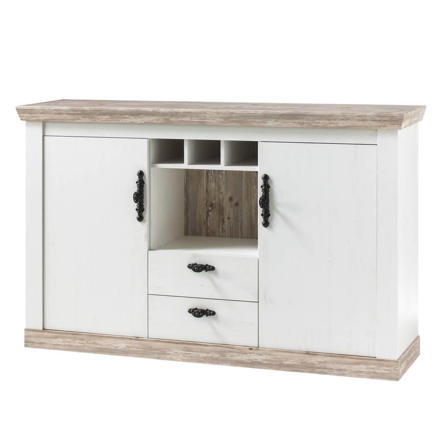 Sideboard Lewk Pinie Weiss Dekor Pinie Dekor Home24