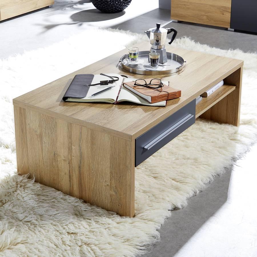 Imitation Table Feda Basse Chêne ClairGris m80yvnwNO