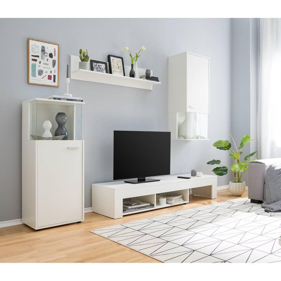 Ensemble Meubles Tv Kiydoo I 4 Elem Blanc Home24 Fr