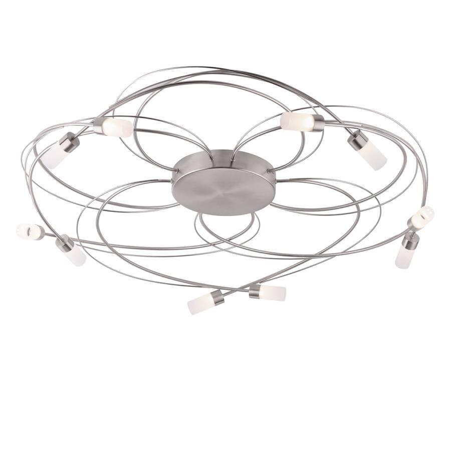 VerreMétalBlanc 10 Plafonnier Ampoules Argenté Nelia EHIDY2W9