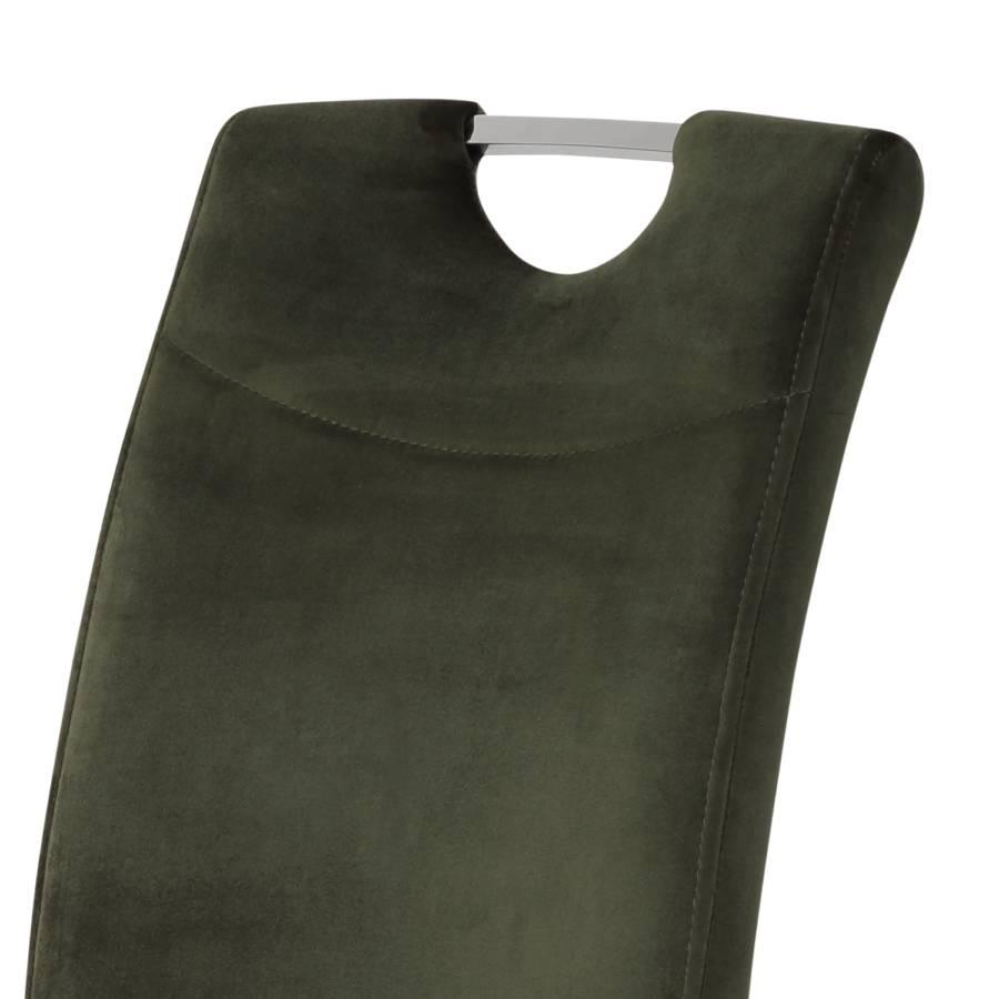 Emlylot Vert 2VeloursAcierChrome Cantilever Chaises Foncé De rdWCoBxe
