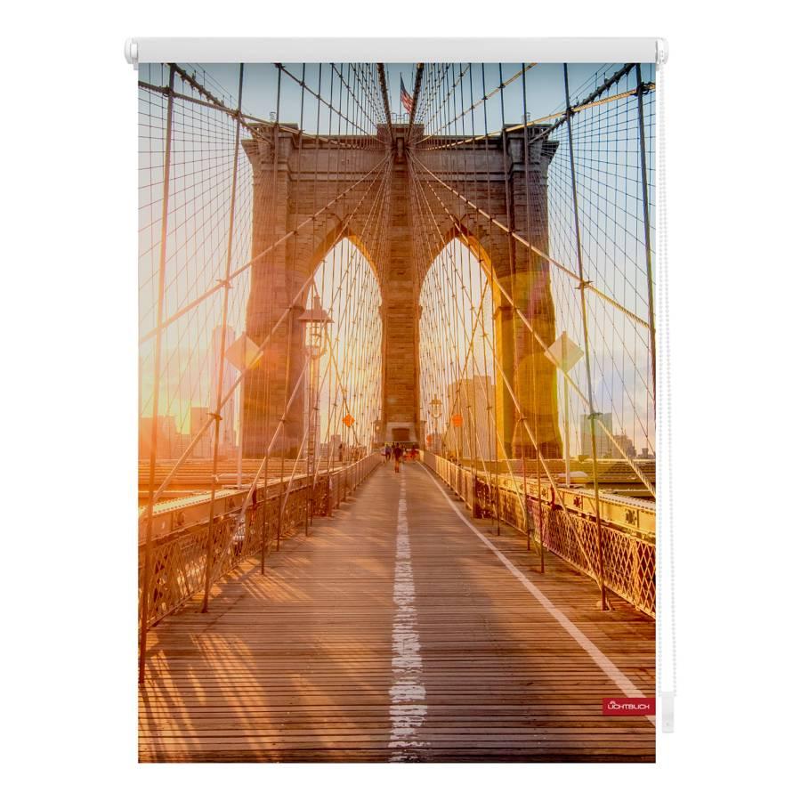 Bridge X 150 Rollo Brooklyn 120 WebstoffOrangeHellblau Cm wkN80nOPX