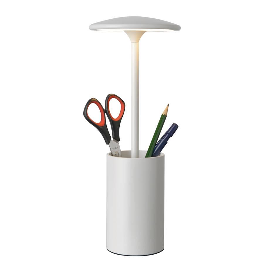 Weiß tischleuchte Aluminium1 flammig Led Pott kPn0OX8wN