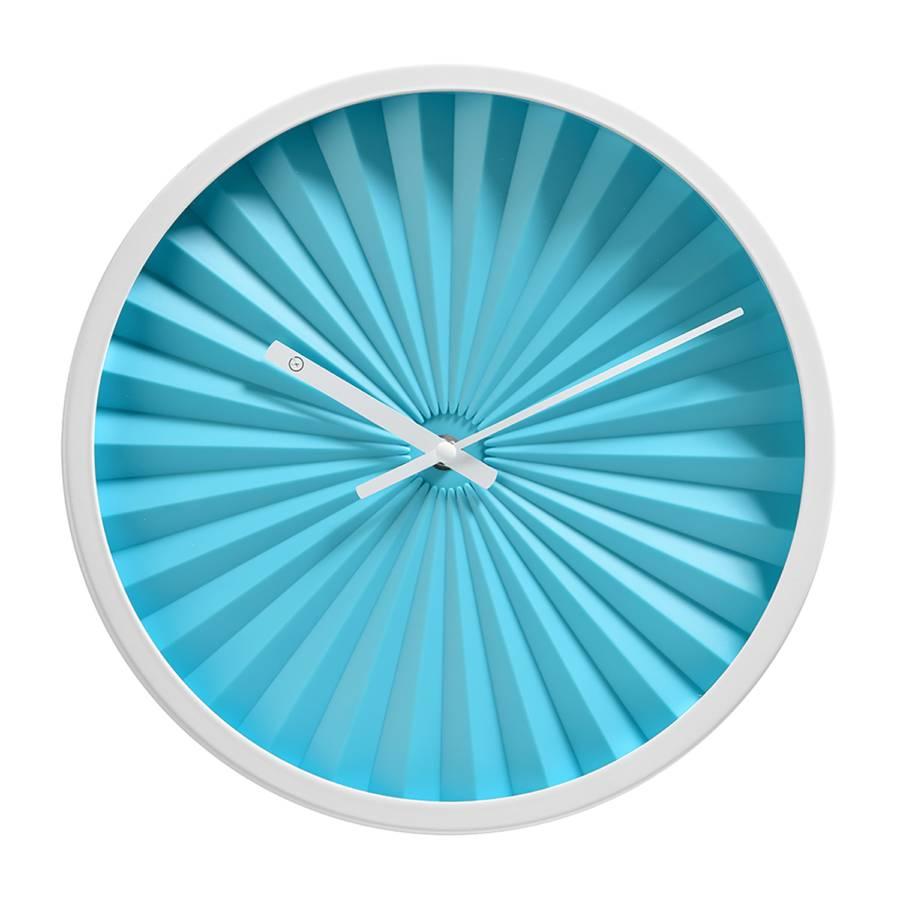 MétalVerreBleu Murale Florence Horloge Clair Horloge 8OP0nwk