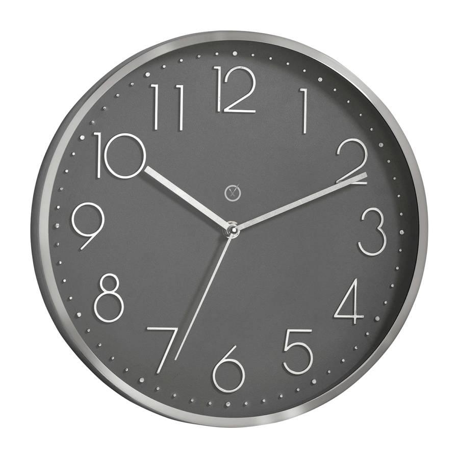Horloge Matière Lava PlastiqueVerreGris Murale Virginia CrBodxeW