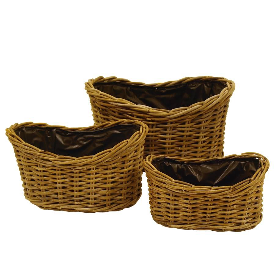 De ÉlémentsRotinMarron Pots Fleur De Kobo3 Pots wlZkXiPuOT