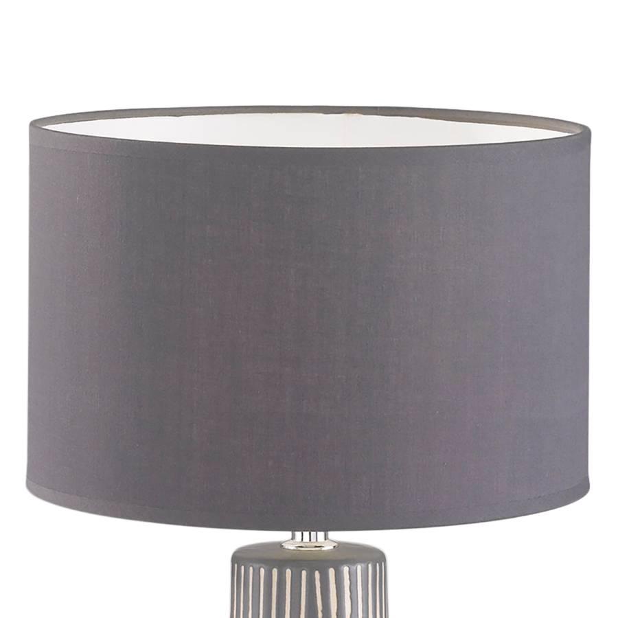 MélangéCéramique1 Ampoule Tissu Binz Lampe Gris n08vmNw