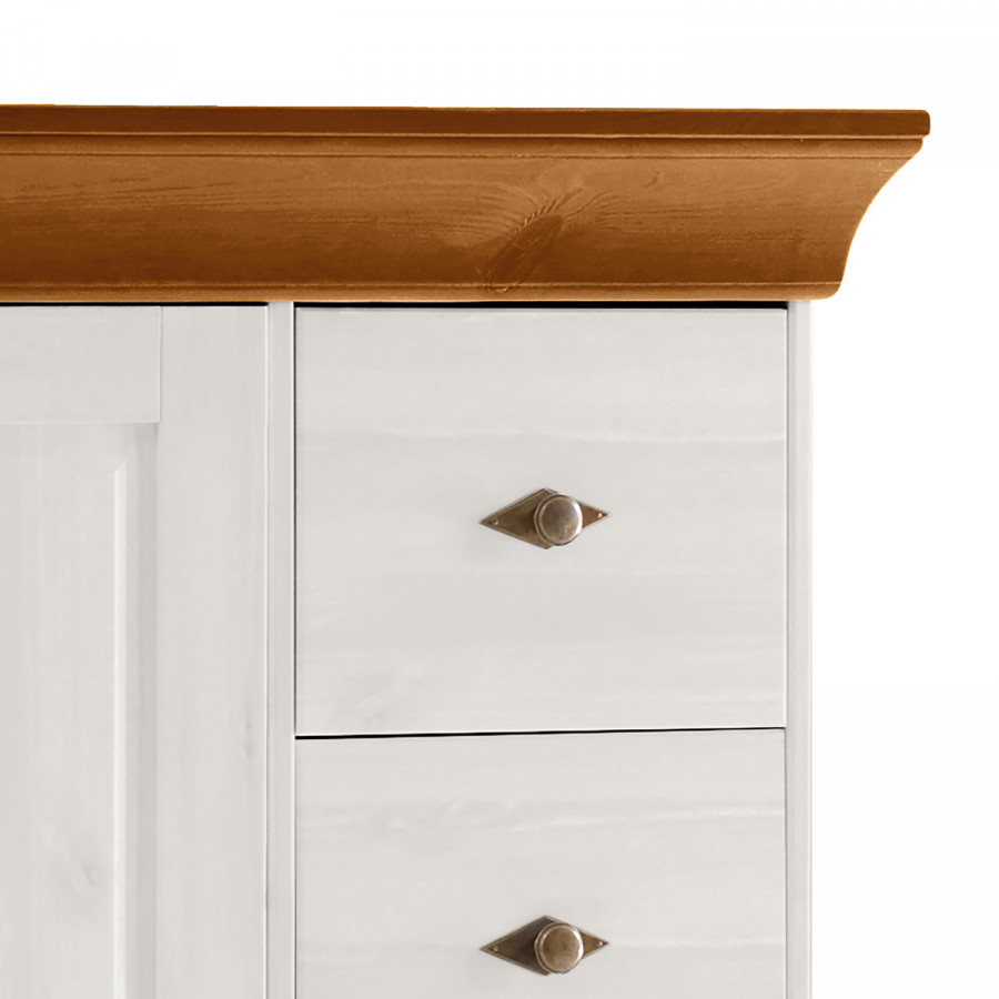 Commode MassifEpicéa BlancAmbre Jaune Bergen Pin WI2YEHD9