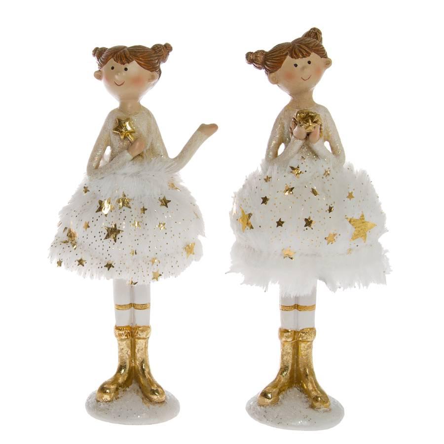 teiligPolyresinWeiß Ballerina2 gold teiligPolyresinWeiß gold Dekofigur Dekofigur Ballerina2 IfY6yb7gv