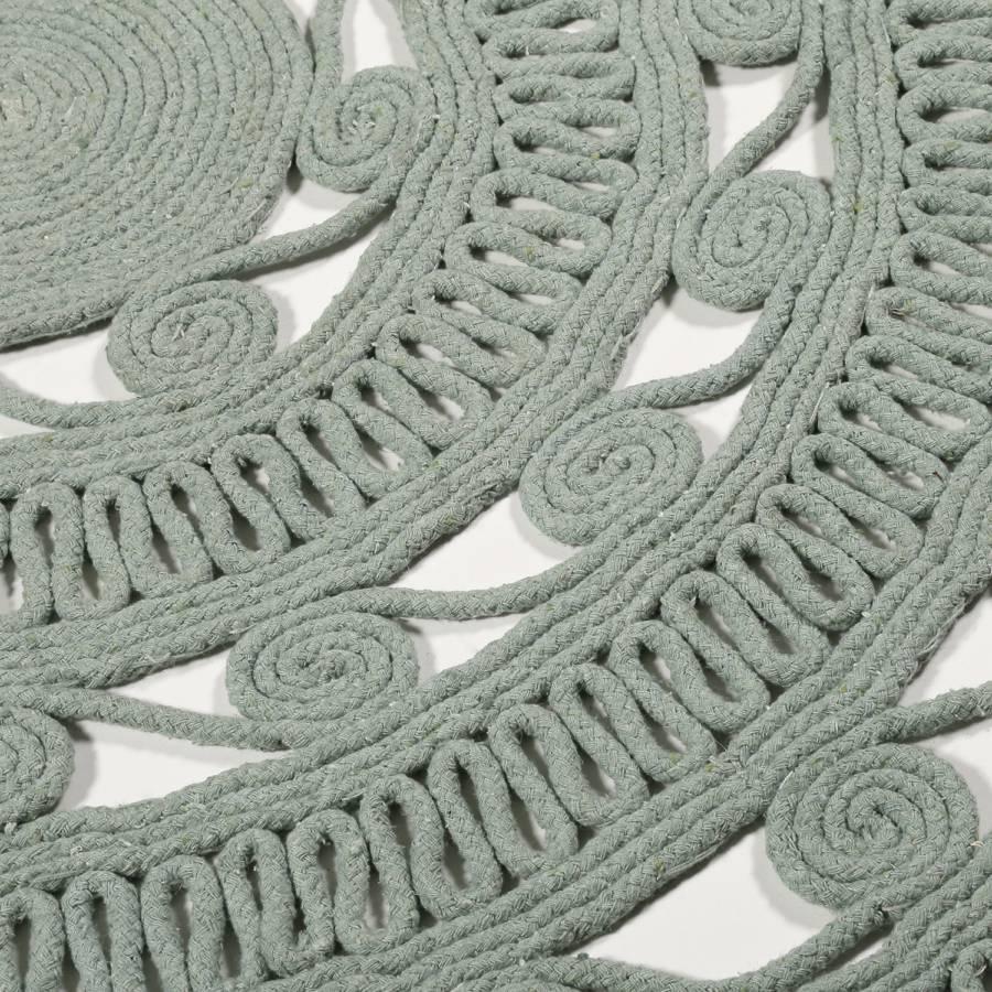 Mintgrau Nature Kurzflorteppich Nature Crochet Kurzflorteppich Crochet wm8Nn0
