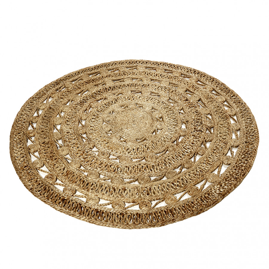 Marron Nature Tapis Clair Crochet WDIeE9YH2