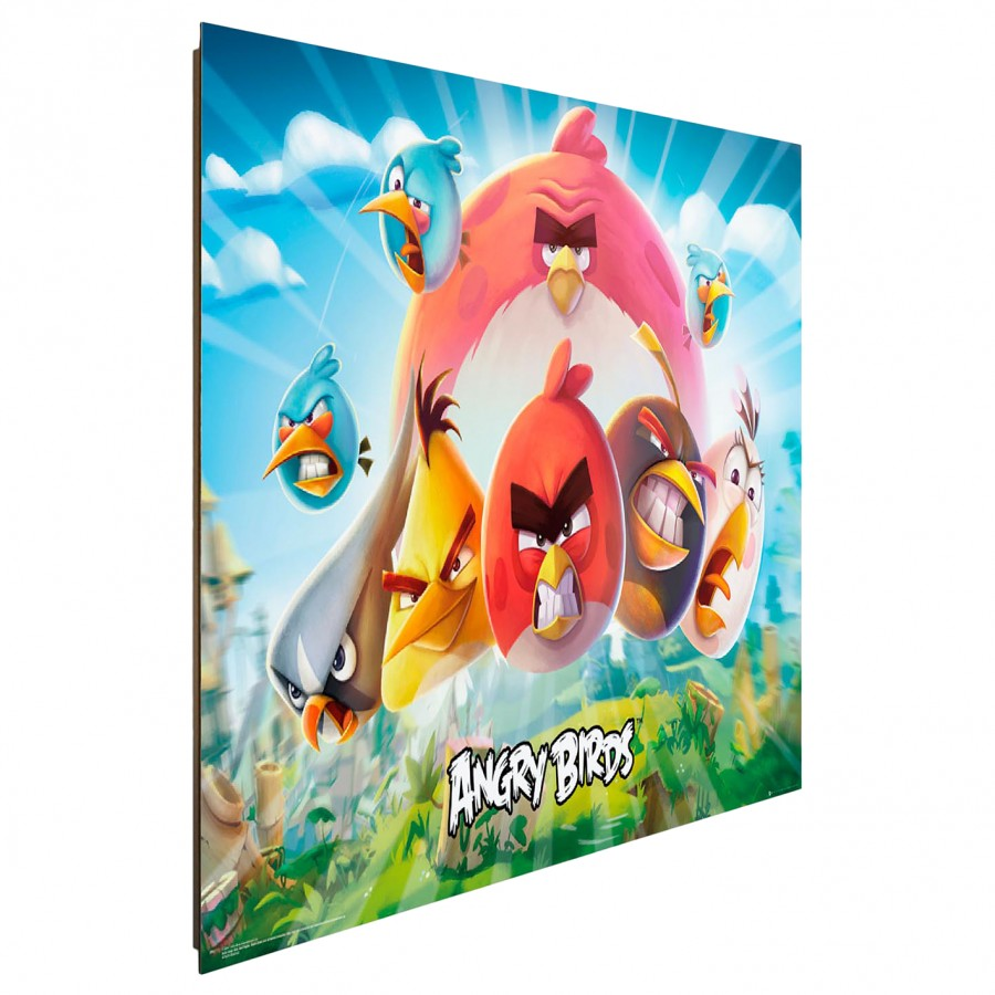 Auf Bild Iii HolzfaserplatteMehrfarbig Mdfmitteldichte Birds Angry Papier PTOXikZu
