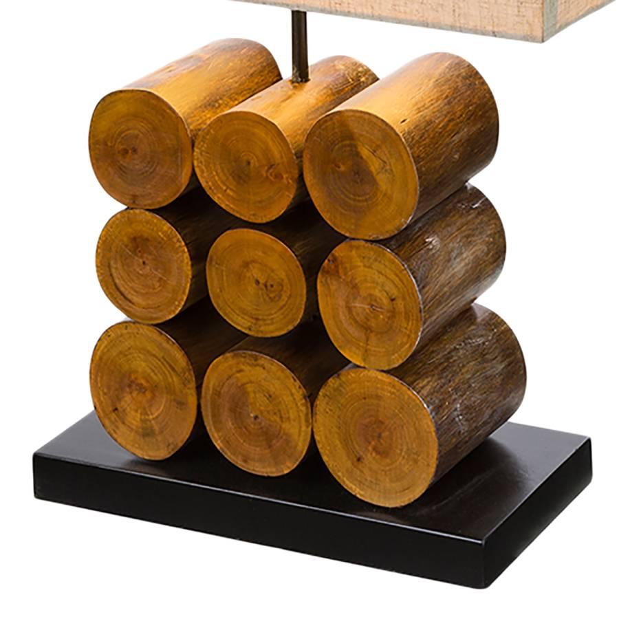 MischgewebeEukalyptus Massiv1 Tischleuchte Braun Arizona flammig PikuXZ