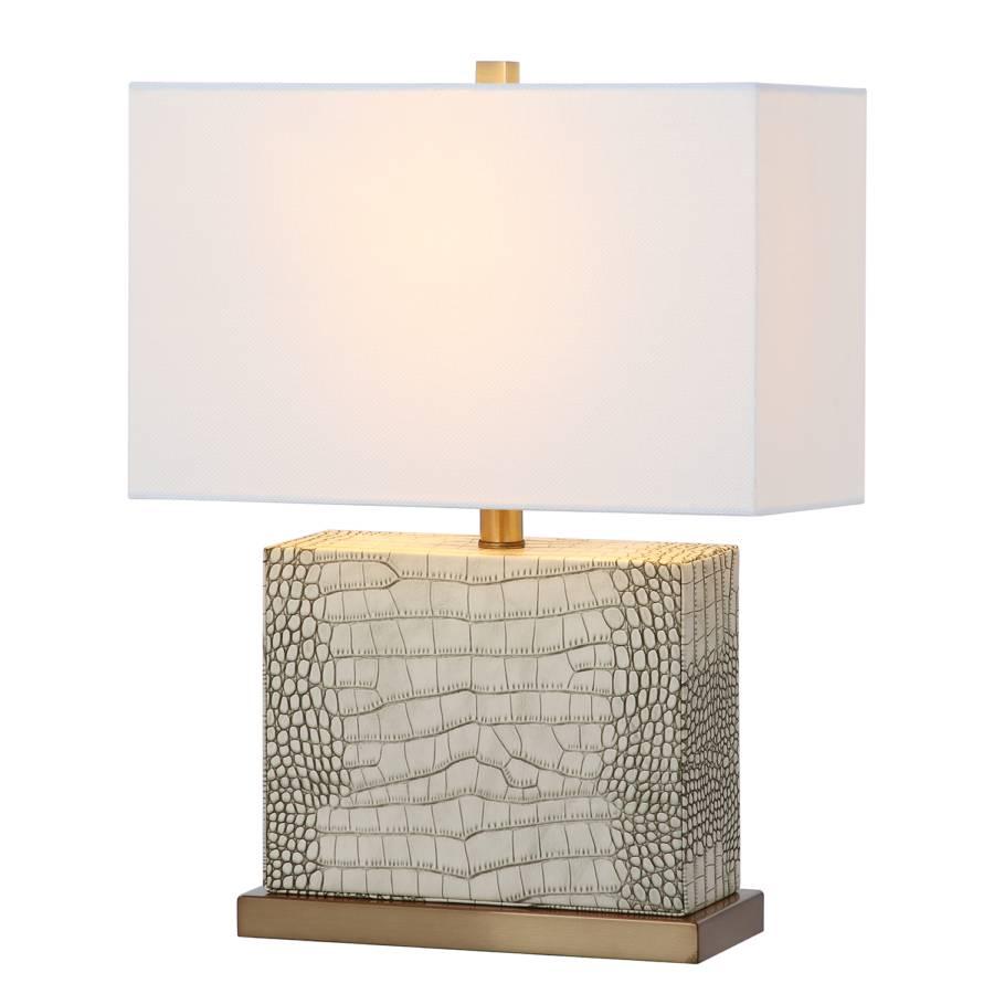 Lampe CotonImitation I Ampoule Cuir1 Kenan Beige fgb76yY