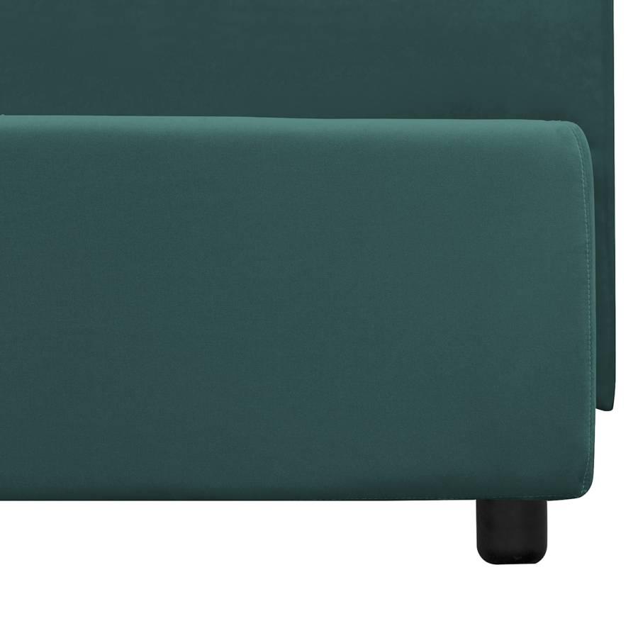 Polsterbett 200cm In X Chiara Kein I Antikgrün Bettkasten Webstoff optik160 Samt Qrtdhs