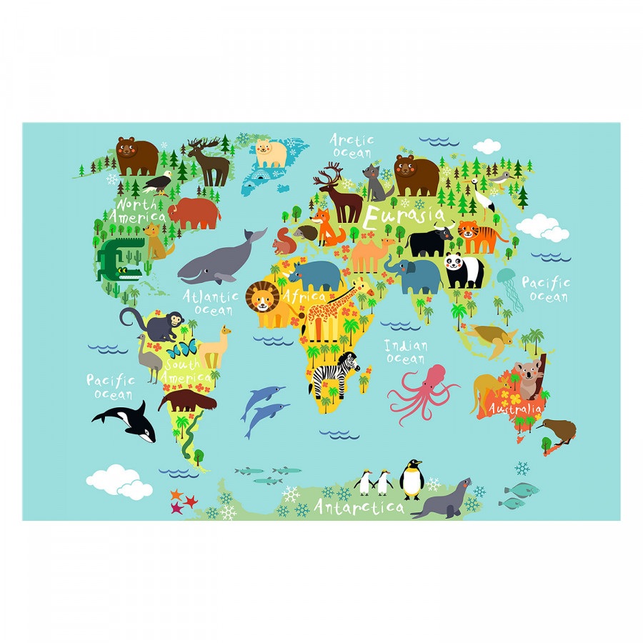 Multicolore Tableau Tableau Déco Déco Colorful World f6Yyv7bg