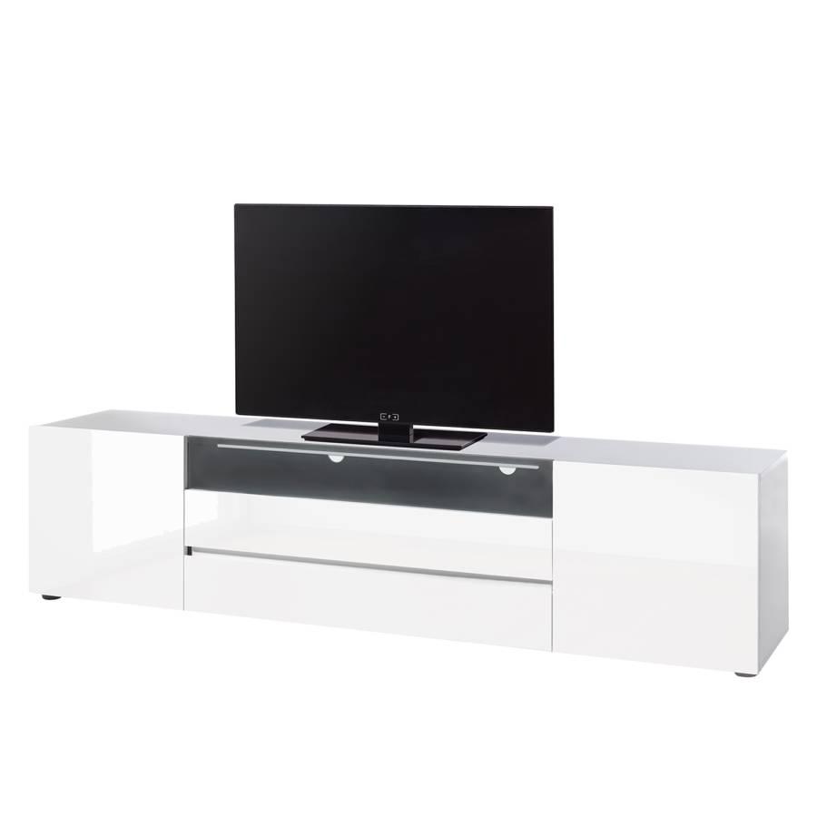 Tv Meubel Zwart Hoogglans.Tv Meubel Mavie Hoogglans Wit Zwart Home24 Nl