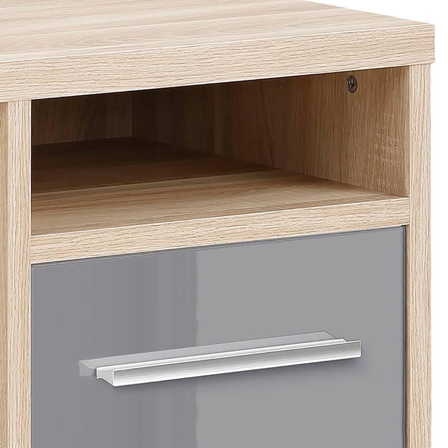 I Plus Dekor Set Schreibtisch FarbeGrauEiche Yfgyb67