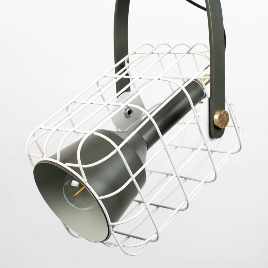 I flammig AluminiumEisen1 Pendelleuchte Cage Weiß ARjq354L