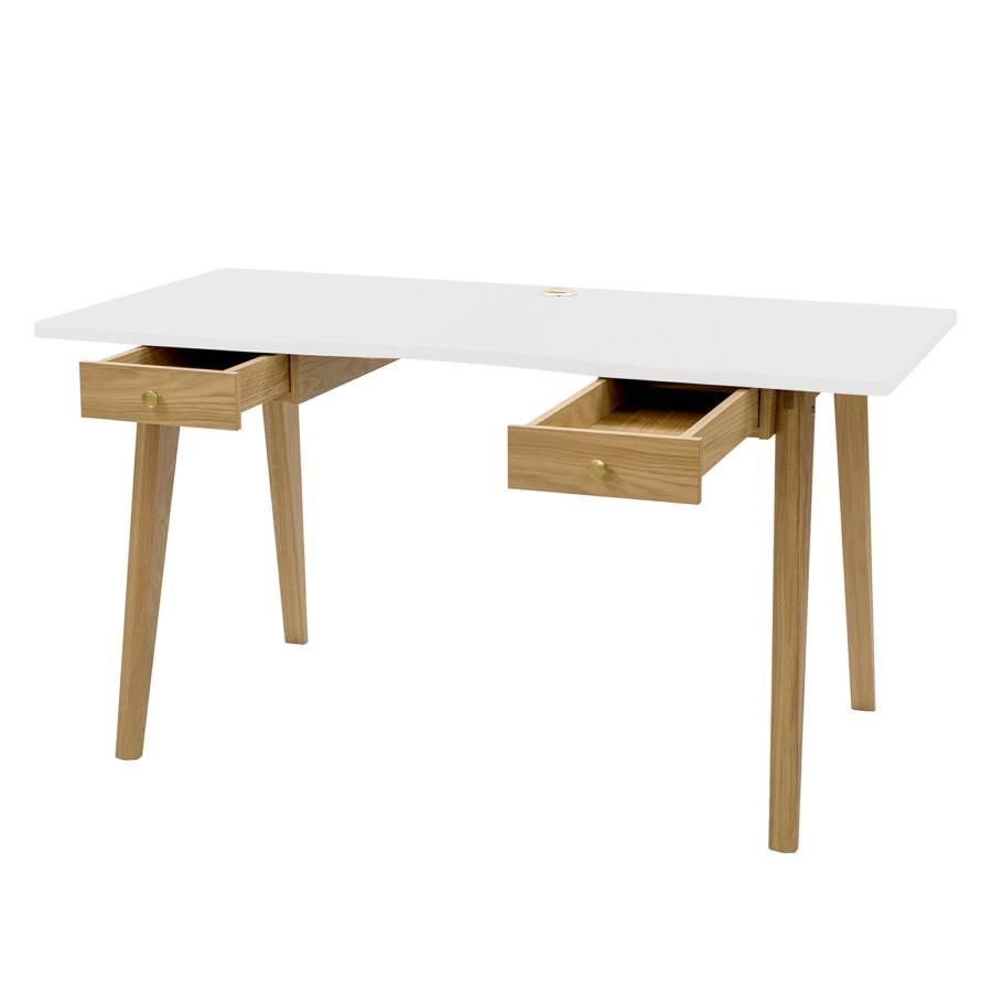 Sucre TeilmassivWeiß Schreibtisch Schreibtisch Sucre Eiche kXPiTOZu