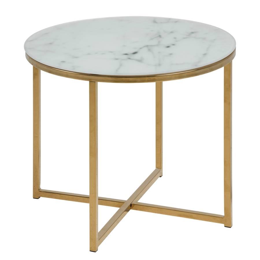 Basse Marbre Katori Doré Vi VerreFerImitation Table Blanc PwiOuXZTk