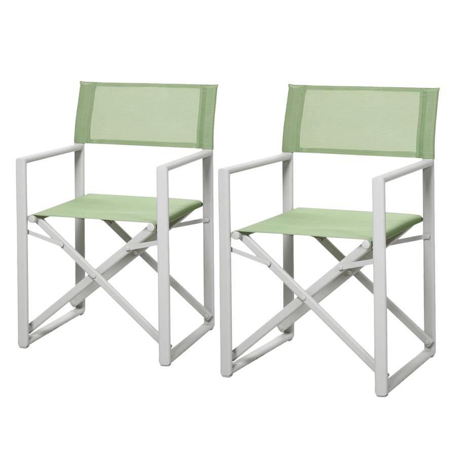 Chaises de jardin Messina (lot de 2)