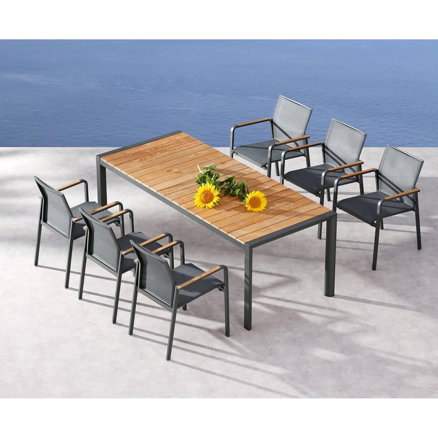 Paros De 210 Table AluminiumTeck MassifAnthracite Cm Jardin KT1J3Flc