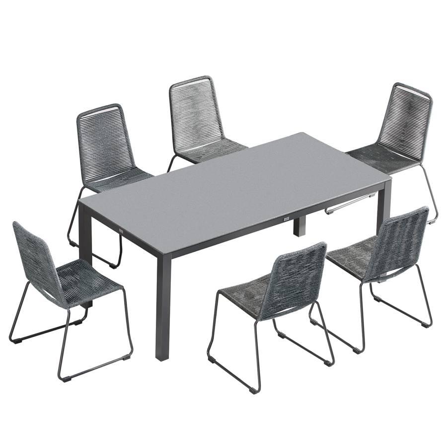 Et Chaises Table I7 ÉlémentsVerrePolyéthylèneGris Symi 3ARqL4j5