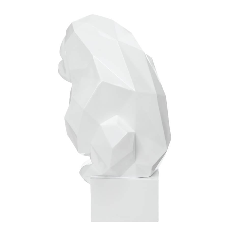 Ii Résine Statuette SynthétiqueBlanc Kenya fgv7y6bY