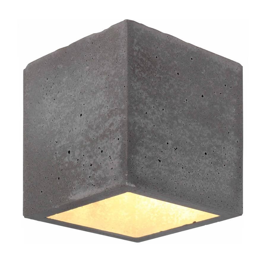 Led flammig Grau wandleuchte I Block Keramik1 hrQdts