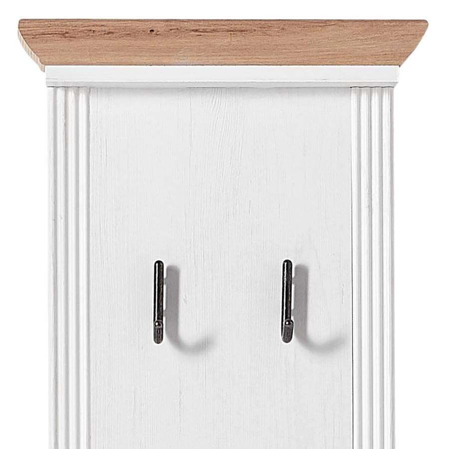 Weiß Garderobenpaneel Jasmund I Pinie Dekor oerxCWdB