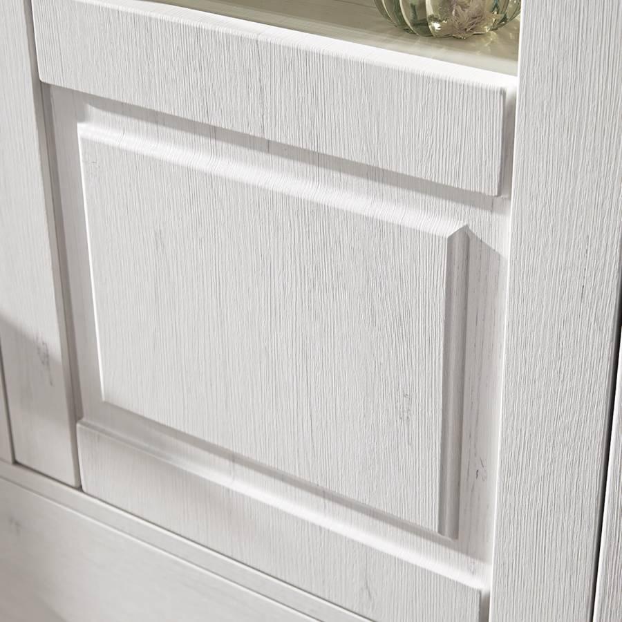 Weiß Wohnwand DekorTaupe Curzu teiligPinie V4 P0wONnX8k
