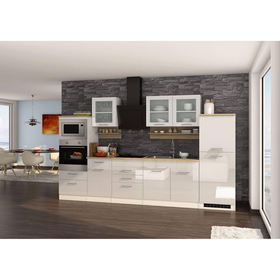 V Induktion Mailand Küchenzeile WeißMit Elektrogeräten OmnvN80w