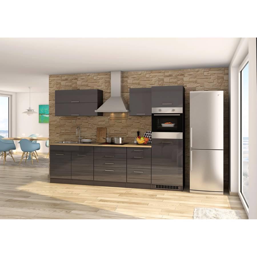 GraphitMit Küchenzeile Viii Mailand Glaskeramik Elektrogeräten 9HDIE2W