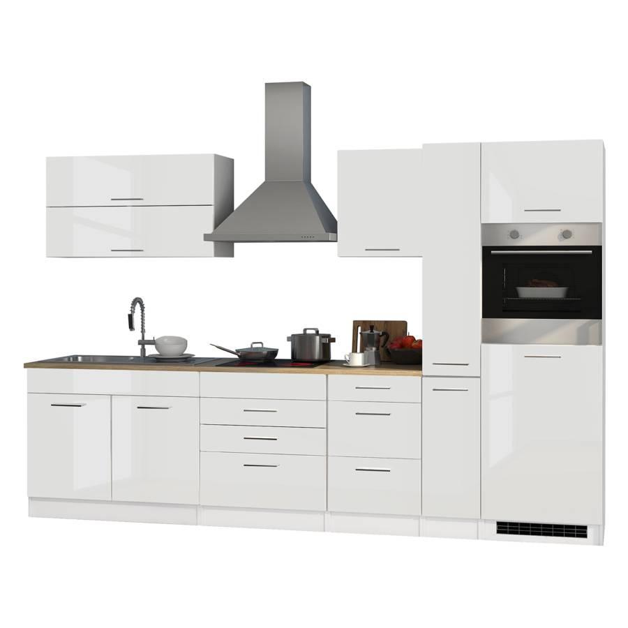 Mailand Küchenzeile X WeißMit Elektrogeräten Glaskeramik A5c4RL3jq