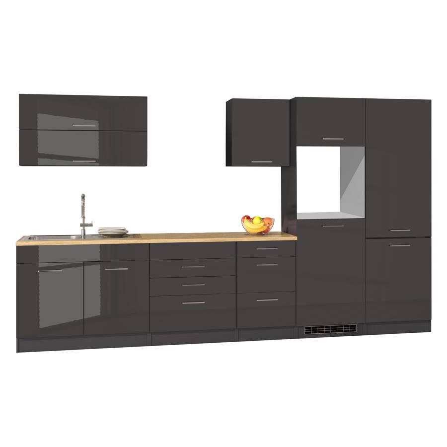 Mailand Küchenzeile Xii GraphitOhne Elektrogeräte Kochfeld EHWD29I
