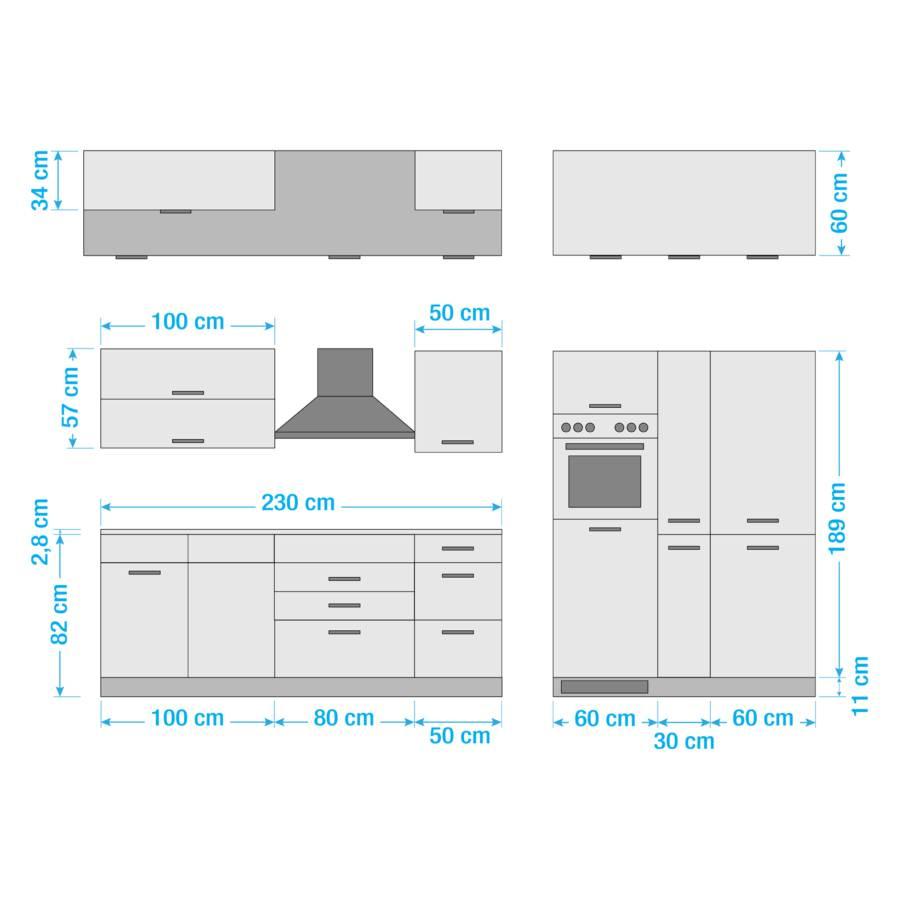 Mailand Glaskeramik Xiv Küchenzeile Elektrogeräten GraphitMit 8n0ymwOvN