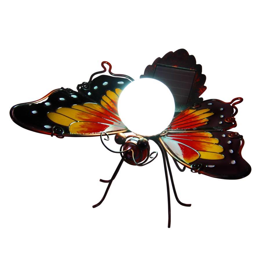 dekoleuchte flammig Schmetterling GlasEdelstahl1 Iii Solar D2IeWEH9Yb