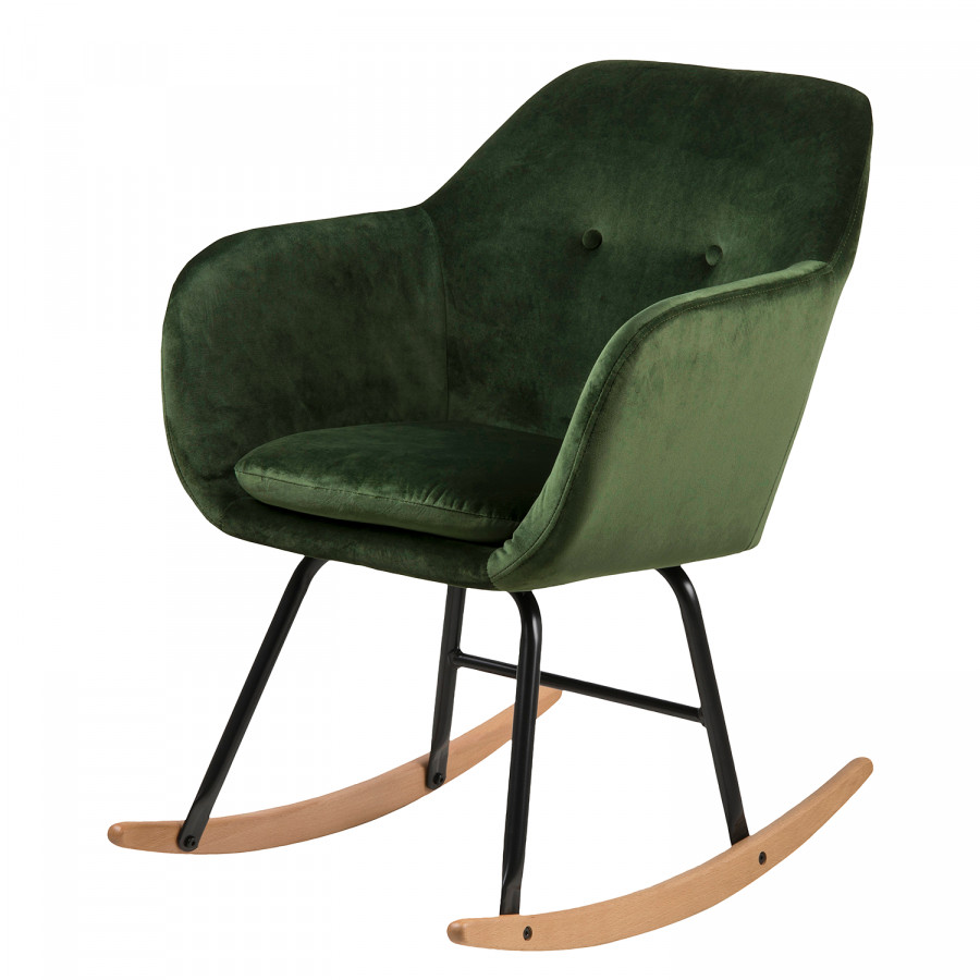 Bolands Rocking Chair VeloursMétalVert Ii Sapin OPZiTulkXw