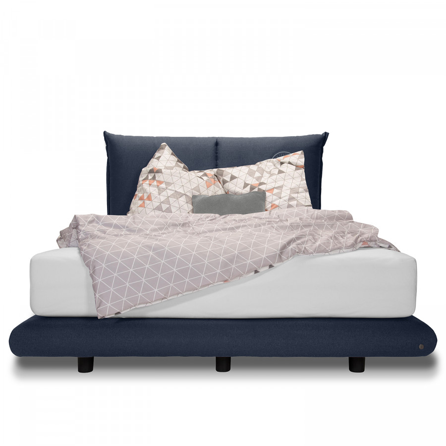 Pillow X 140 Boxspringbett Soho WebstoffMarineblau 200cm sthQrd