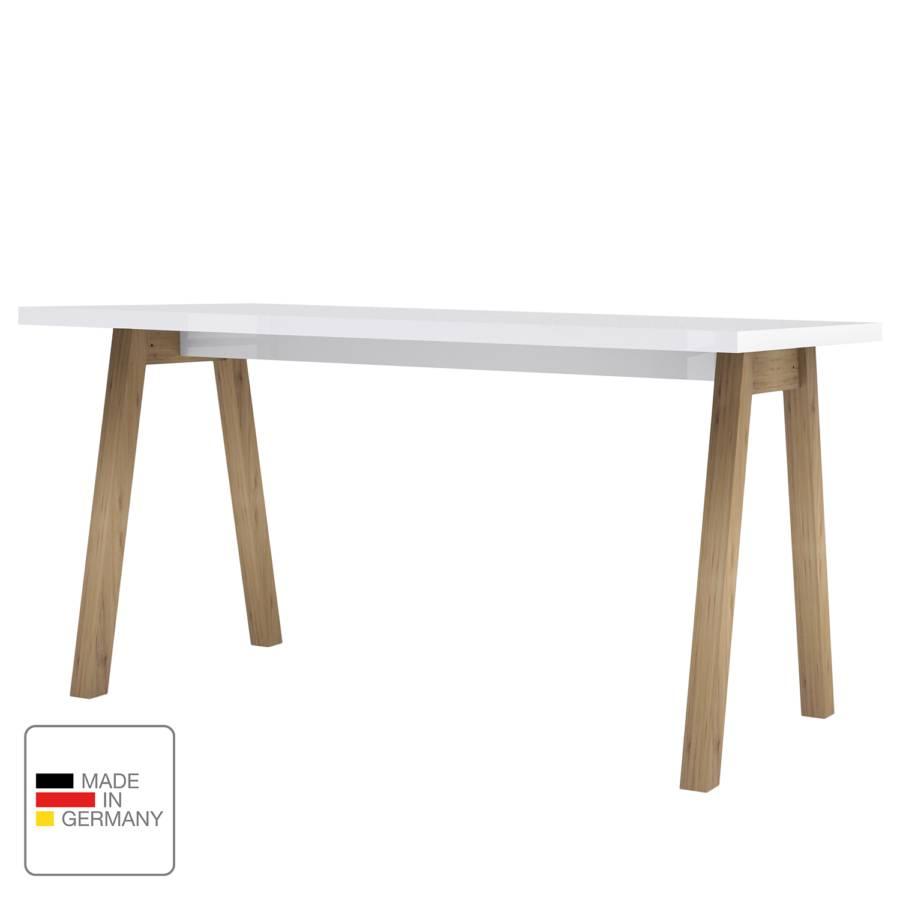 I TeilmassivHochglanz Weiß Eiche Teshie Schreibtisch vOwm80Nn