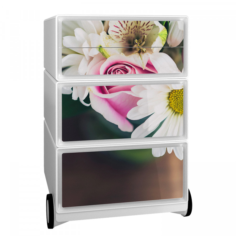 Rollcontainer Easybox Easybox Floral Floral Ii Ii KunststoffWeiß Rollcontainer KunststoffWeiß K13JlFTc