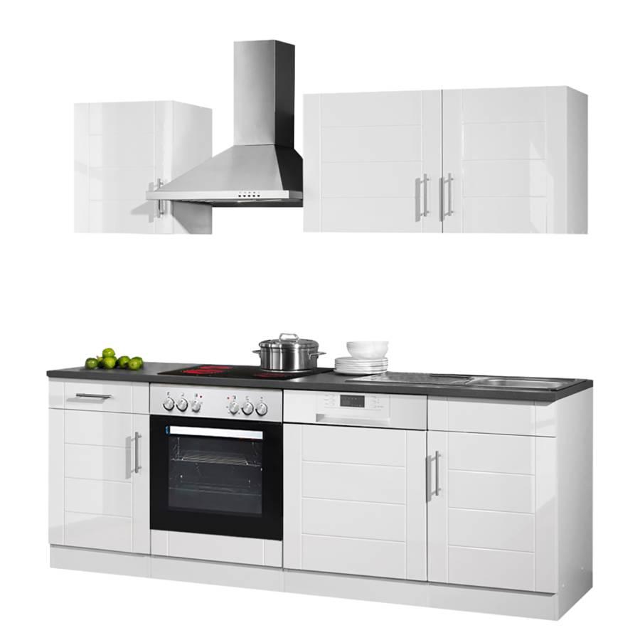 Nevada Ii Hochglanz WeißAnthrazitMit Küchenzeile Elektrogeräten 35RL4Ajq