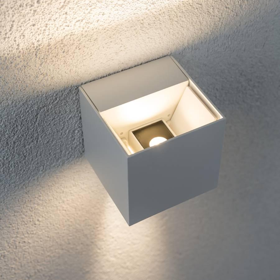 wandleuchte Led flammig Weiß I Aluminium2 Cybo sCtrxdhQ