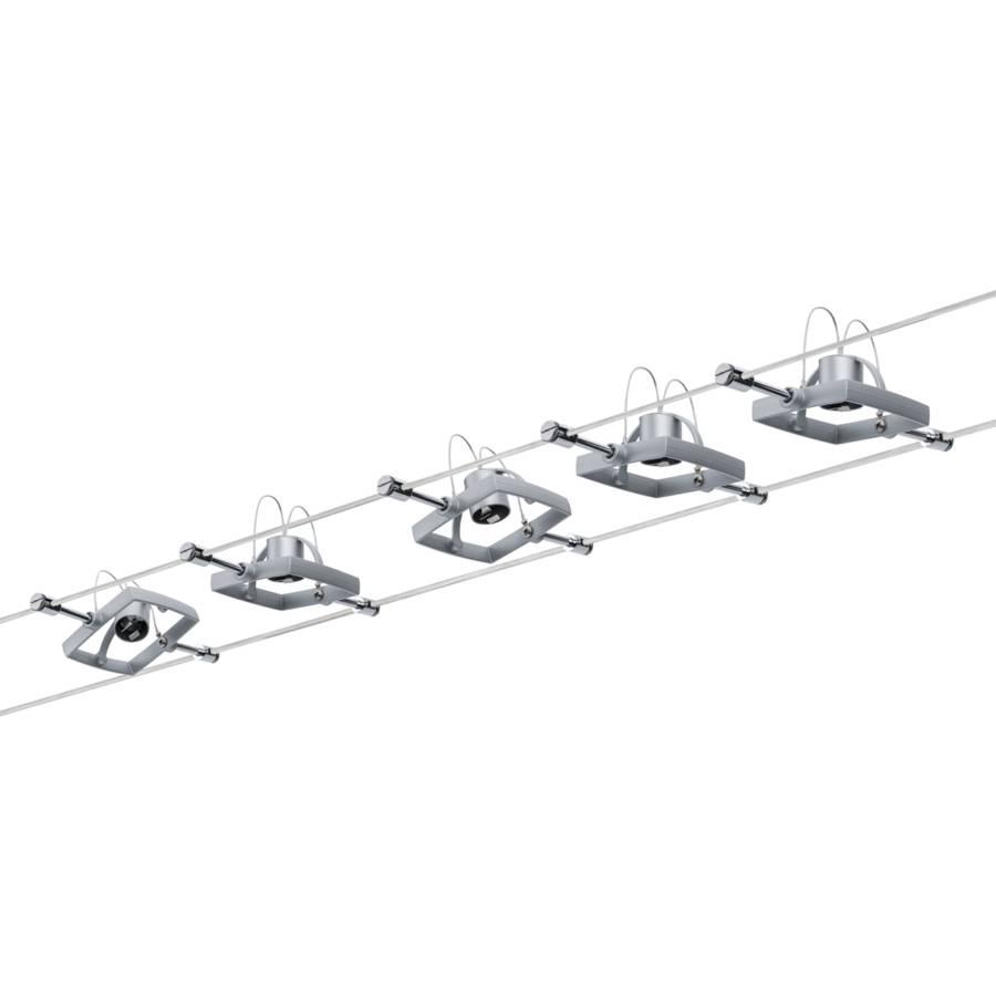 SiliconeChrome5 Spots Sur Câble Mac Ampoules v8wN0mnO