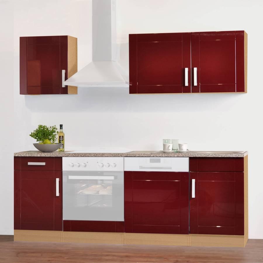 Hochglanz Elektrogeräte Varel DekorOhne Küchenzeile Ii RotBuche g6f7byYv