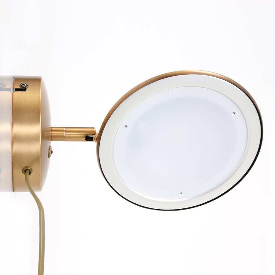 Zenith wandleuchte EisenAcrylglas1 flammig Braun Led roWdxQCBe